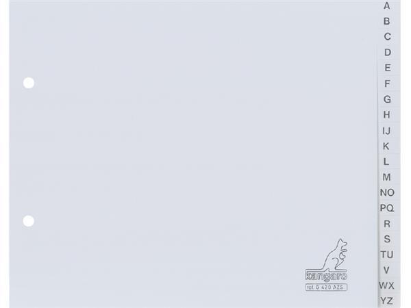 Ordneralfabet Kangaro A5 2-gaats G420AZS alfabet grijs PP