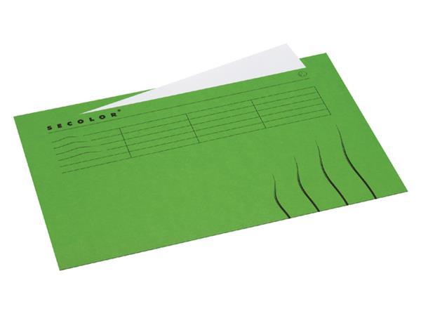 Vouwmap Secolor Folio ongelijk 225gr groen
