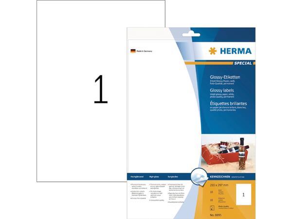 ETIKET HERMA 8895 210X297MM A4 10ST WIT