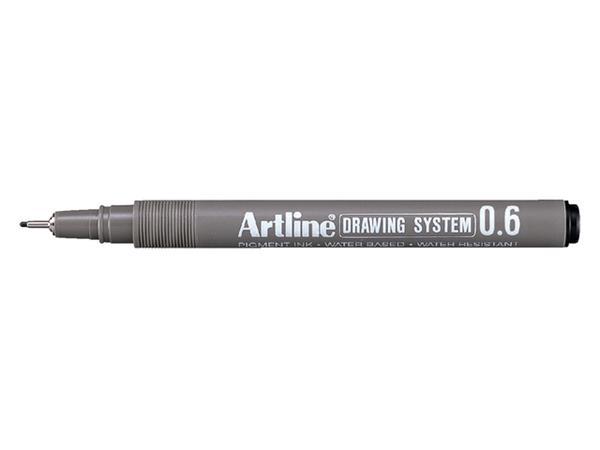 Fineliner Artline 0.6mm zwart