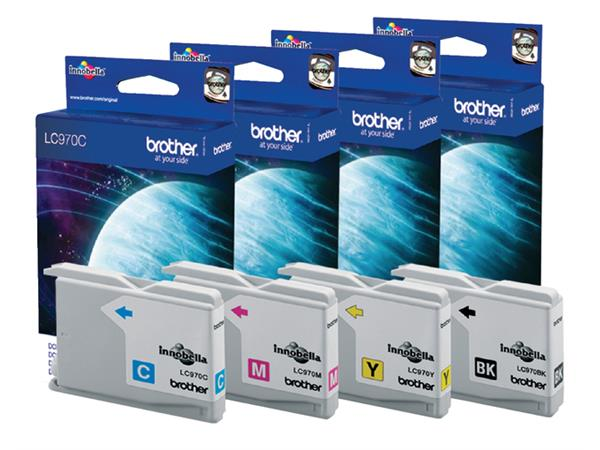 Inktcartridge Brother LC-970M rood