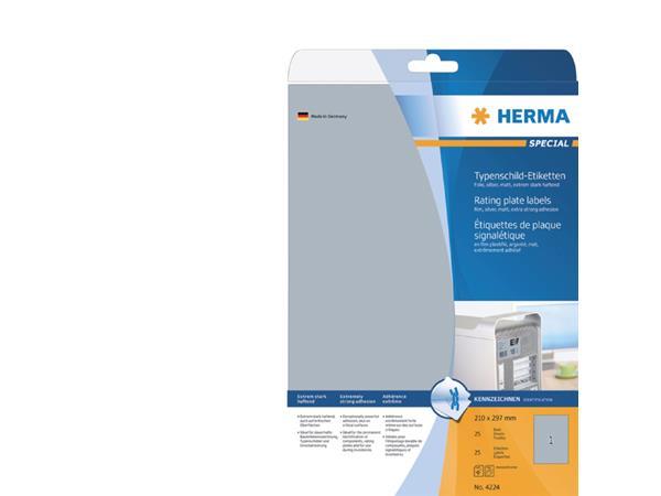 ETIKET HERMA 4224 210X297MM ZILVER 25ST