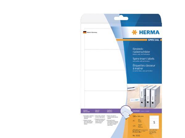 Rug-insteekkaart Herma breed 54x190mm wit
