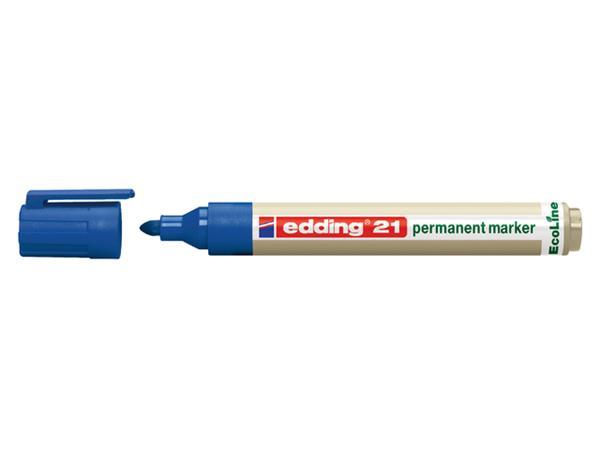 Viltstift edding 21 Eco rond blauw 1.5-3mm