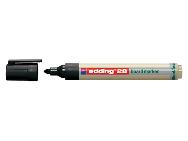 Viltstift edding 28 whiteboard Eco rond zwart 1.5-3mm