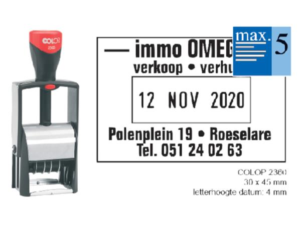 WOORD-DATUMSTEMPEL COLOP S2360 CLASSIC BON 30X45MM