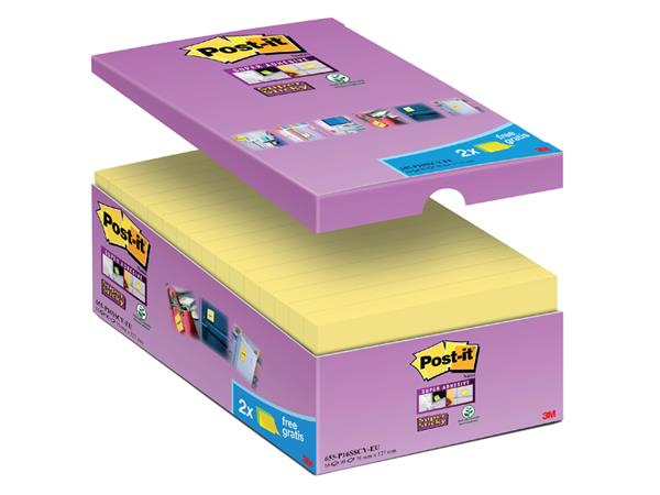 MEMOBLOK 3M POST-IT 655 76X127MM SS GEEL