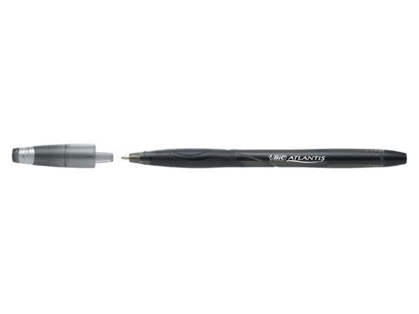 Balpen Bic Atlantis stick 0.32mm breed zwart