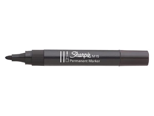 Viltstift Sharpie M15 rond zwart 1.8mm