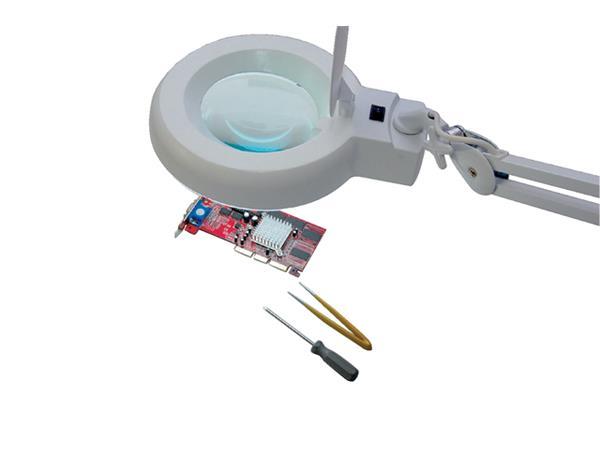 Loeplamp MAUL Viso LED tafelklem wit