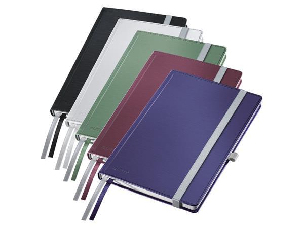 Notitieboek Leitz Style harde kaft A5 lijn poolwit