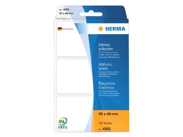 ETIKET HERMA ADRES 4301 95X48MM 250ST LEPORELLO