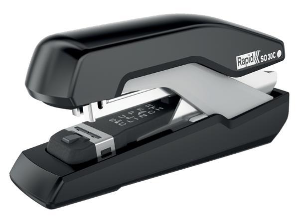 Nietmachine Rapid SO30c Halfstrip 30vel 24/6 zwart/grijs