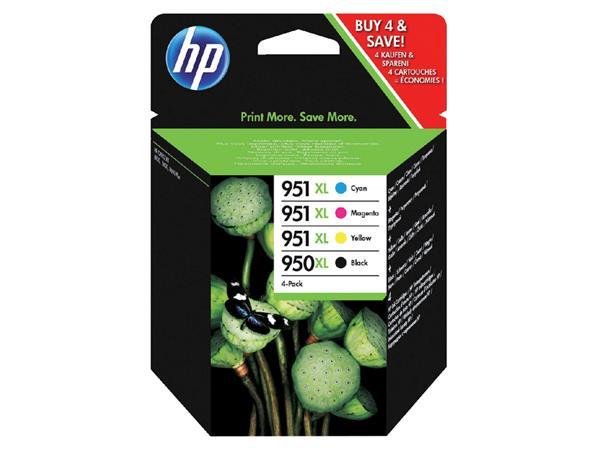 INKCARTRIDGE+HP+950XL+951XL+C2P43AE+HC+ZWART+KLEUR