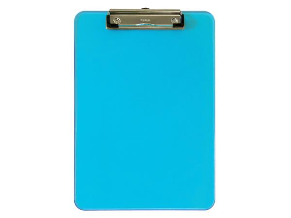 Klembord MAUL A4 staand transparant neon blauw