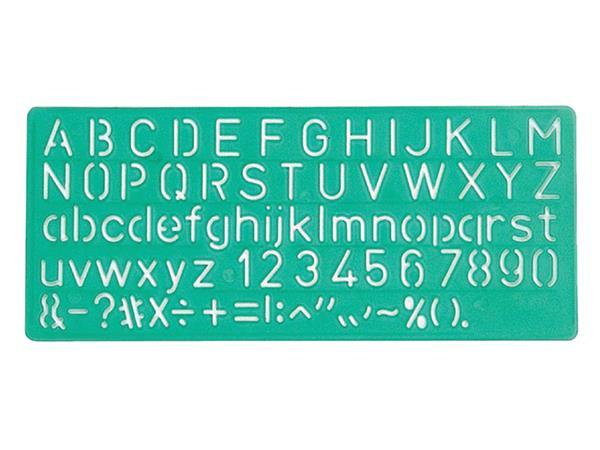 LETTERSJABLOON LINEX 10MM HOOFDL/LETTERS/CIJFERS