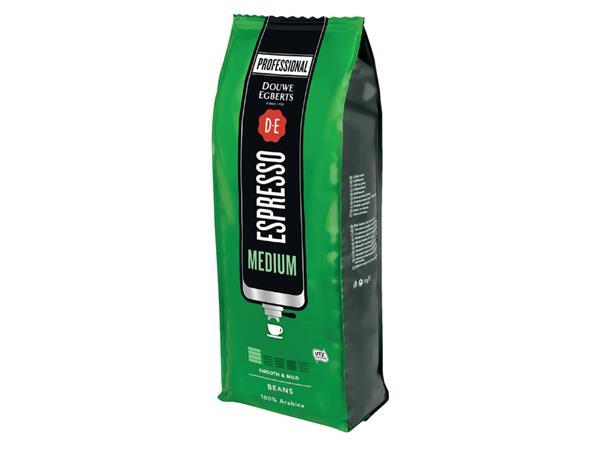 Koffie Douwe Egberts Espresso bonen medium roast 1000gr