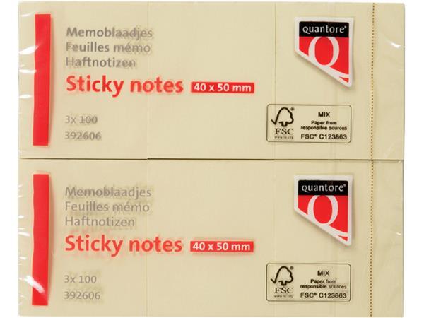 MEMOBLOK QUANTORE 40X50MM STICKY GEEL