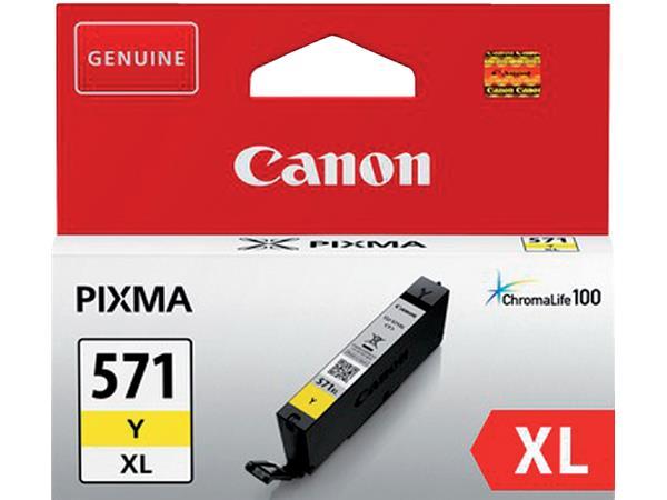 Inktcartridge Canon CLI-571XL HC geel