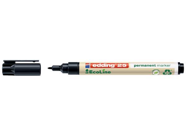 Viltstift edding 25 Ecoline rond 1mm zwart