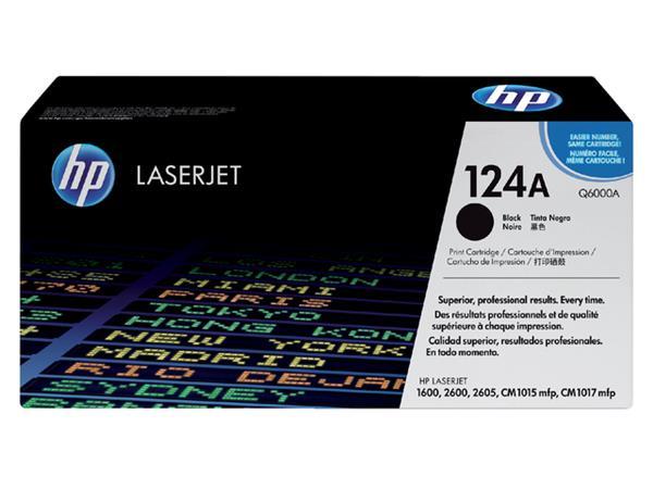 Tonercartridge HP Q6000A 124A zwart