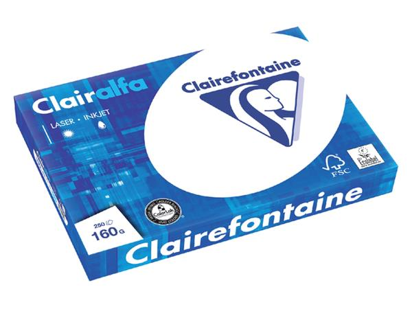 KOPIEERPAPIER CLAIREFONTAINE CLAIRALFA A3 160GR WT
