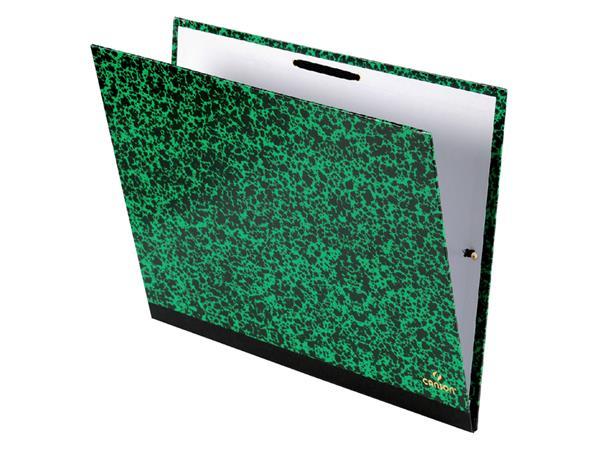 Tekenmap Canson studio 26x33cm 2 elastieken groen