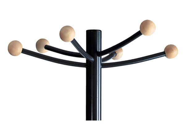 Kapstok staand VepaBins Melchior met 6 haken zwart