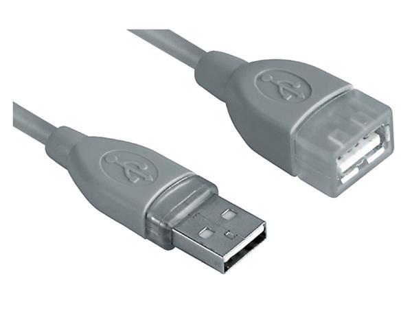KABEL HAMA USB 2.0 A-A VERLENG 3M GRIJS