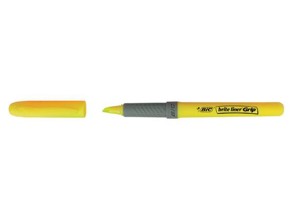 Markeerstift Bic grip geel