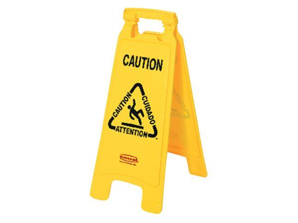 Waarschuwingsbord wet floor caution 67x28x4cm geel