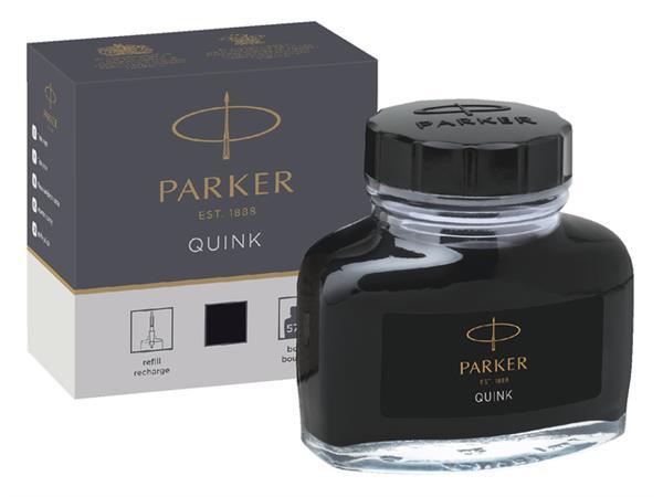 Vulpeninkt Parker Quink permanent 57ml zwart