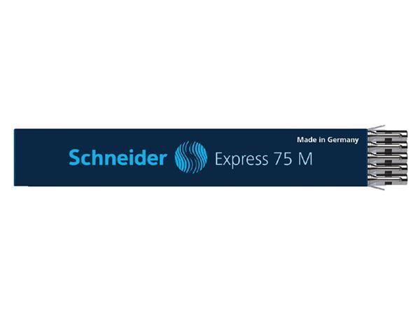 Balpenvulling Schneider Express 75 zwart medium