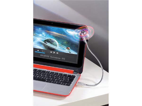 Ventilator Hama voor notebook zwanenhals USB zilvergrijs