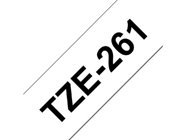 LABELTAPE BROTHER TZE-261 36MMX8M WIT/ZWART