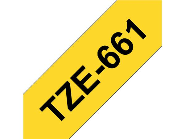 LABELTAPE BROTHER TZE-661 36MMX8M GEEL/ZWART