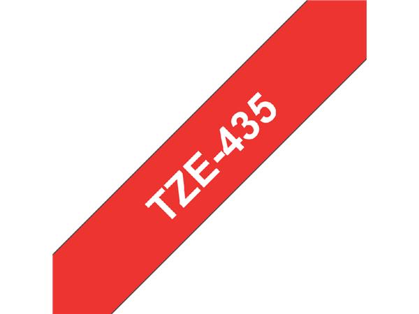 LABELTAPE BROTHER TZE-435 12MMX8M ROOD/WIT