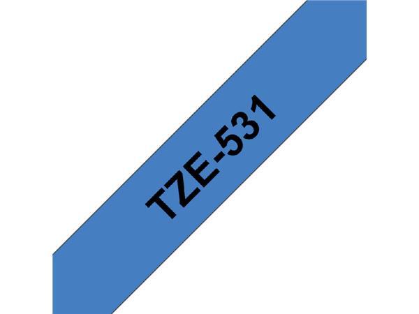 LABELTAPE BROTHER TZE-531 12MMX8M BLAUW/ZWART