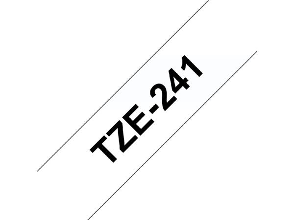 LABELTAPE BROTHER TZE-241 18MMX8M WIT/ZWART