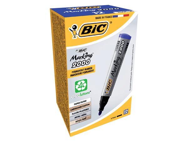 VILTSTIFT BIC 2000 ROND 1.7MM BLAUW
