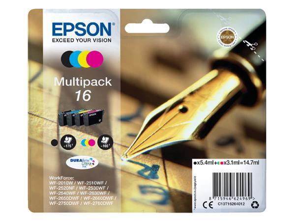INKCARTRIDGE EPSON 16 T1626 ZWART + 3 KLEUREN