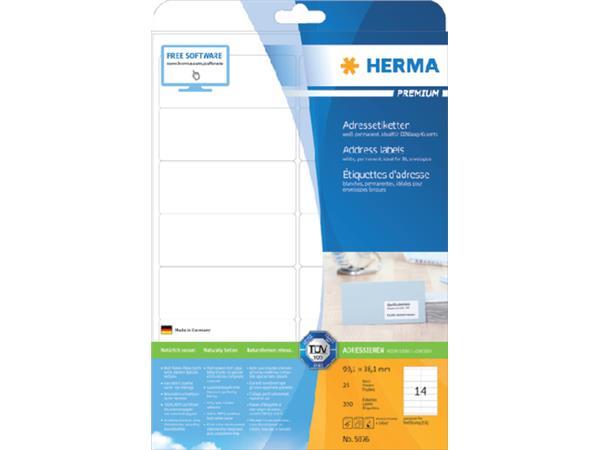 Etiket Herma 5076 99.1x38.1mm premium wit 350stuks