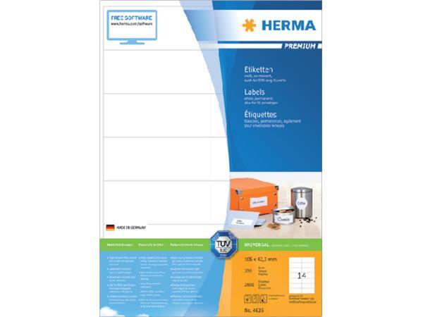 ETIKET HERMA 4625 105X42.3MM PREMIUM A4 2800ST