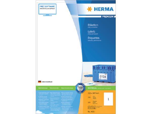 ETIKET HERMA 4631 210X297MM PREMIUM A4 200ST