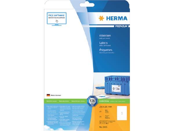 ETIKET HERMA 5065 210X297MM PREMIUM A4 25ST