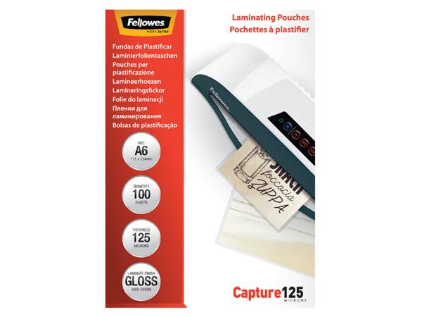 LAMINEERHOES FELLOWES A6 2X125MICRON