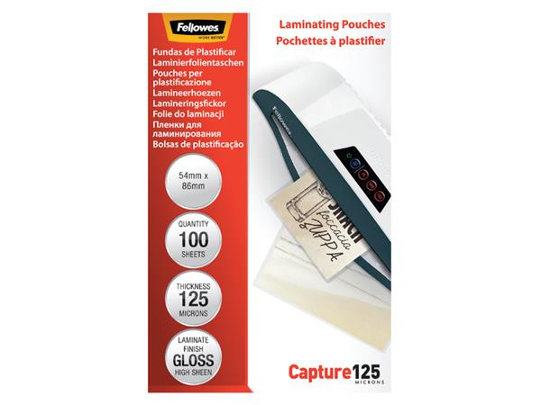 LAMINEERHOES FELLOWES 54X86MM 2X125MICRON