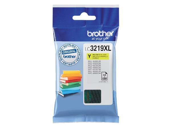Inktcartridge Brother LC-3219XLY geel HC
