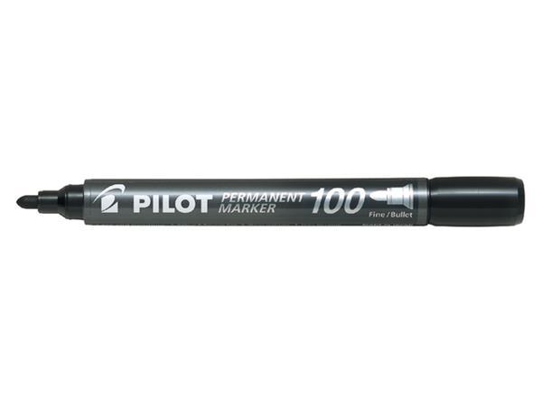 Viltstift PILOT SCA-100-B rond 1mm zwart