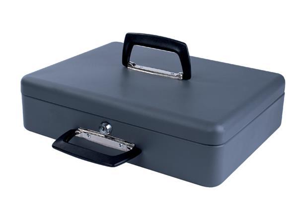 Geldkist Pavo met draaggreep 370x280x115mm grijs